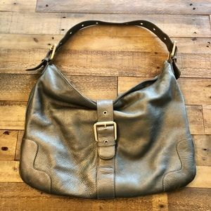 Jones New York Women's Pewter Leather Purse